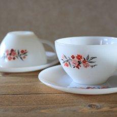 画像1: Fire King Primrose Tea Cup&saucer (1)