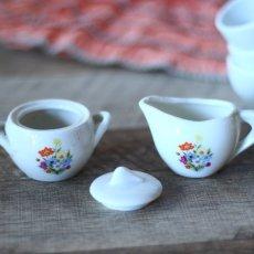 画像8: 陶器 お花のプリントのおままごとティーセット* (8)