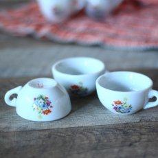画像6: 陶器 お花のプリントのおままごとティーセット* (6)