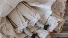 画像8: 小花ドレスのチャイナヘッドドール (8)