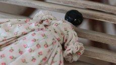 画像10: 小花ドレスのチャイナヘッドドール (10)