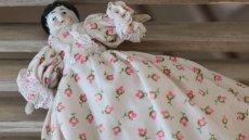 画像5: 小花ドレスのチャイナヘッドドール (5)