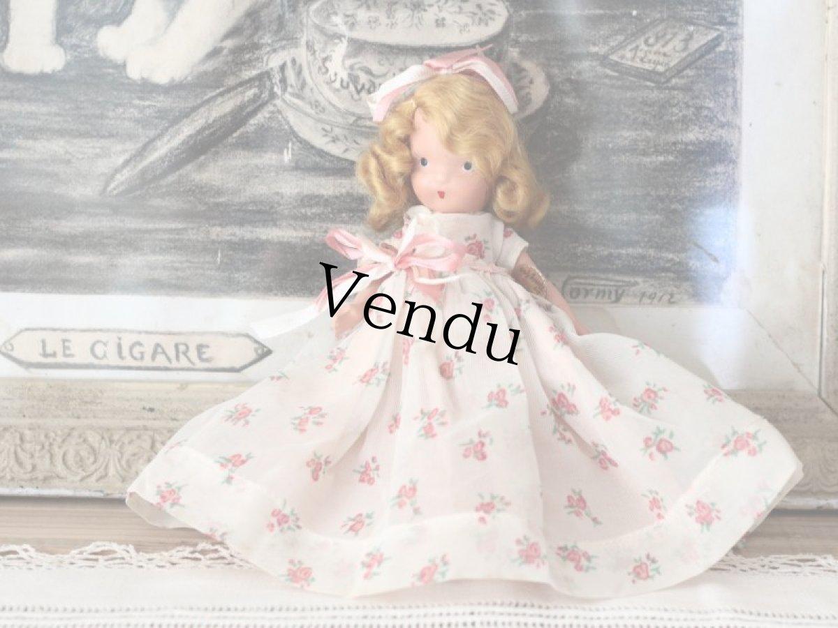 画像1: 薔薇のドレスのNancy Ann / ナンシー アン ドール (1)