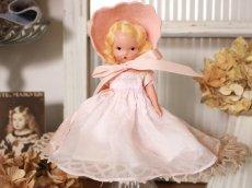 画像1: Nancy Ann Story Book Pink Dress/ナンシー アン ドール (1)