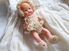 画像4: Nancy Ann Storybook Baby K&H Bisque Doll/Wood Cradle/Original Box/RARE Pamphlet /A (4)