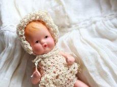 画像3: Nancy Ann Storybook Baby K&H Bisque Doll/Wood Cradle/Original Box/RARE Pamphlet /A (3)