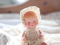 画像5: Nancy Ann Storybook Baby K&H Bisque Doll/Wood Cradle/Original Box/RARE Pamphlet /A (5)