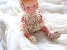 画像6: Nancy Ann Storybook Baby K&H Bisque Doll/Wood Cradle/Original Box/RARE Pamphlet /A (6)