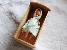 画像5: Nancy Ann Storybook Baby K&H Bisque Doll/Wood Cradle/Original Box/RARE Pamphlet /C (5)