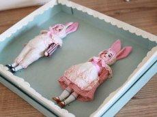画像6: Gebruder Kuhnlenz Easter Bunny Pair Box  B /5 1/2in/Germany (6)