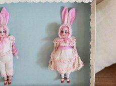 画像2: Gebruder Kuhnlenz Easter Bunny Pair Box A/5 1/2in/Germany (2)