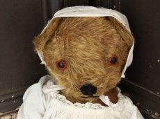 画像2: Antique Dress Bear /16 1/2in / British (2)