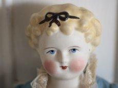 画像2: China Head Doll 18 1/2in / Cute Pink Cloth Body (2)