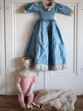 画像10: China Head Doll 18 1/2in / Cute Pink Cloth Body (10)
