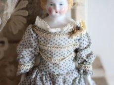 画像5: Rare!!! China Head Doll 9in / Green Boots (5)