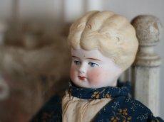 画像4: RARE!! Victorian Print Body China Head Doll / 13.5in /Germany (4)