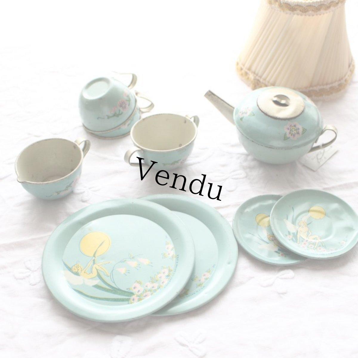 画像1: オハイオアートカンパニー社Tin Tea Set (1)