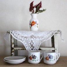 画像2: ドールハウス お花柄のカップセットとフラワーベースのセット * (2)