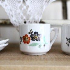 画像3: ドールハウス お花柄のカップセットとフラワーベースのセット * (3)