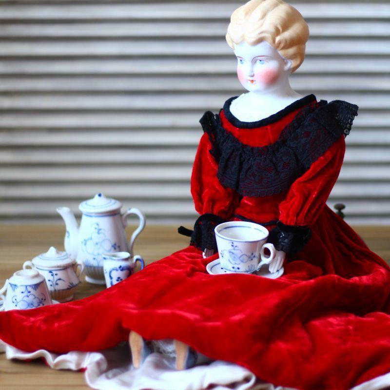 画像1: サキソニー柄 おままごとティーセット/Doll house Child Teaset* (1)
