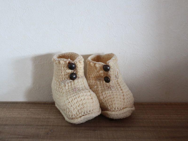 画像1: Crochet Baby Boots/#1551407 (1)