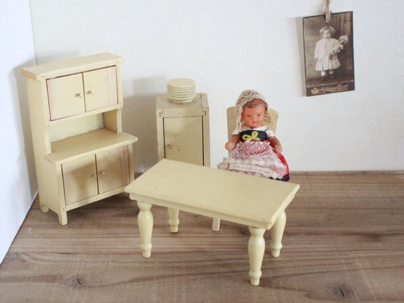 画像1: Wooden Doll House Furniture Set (1)