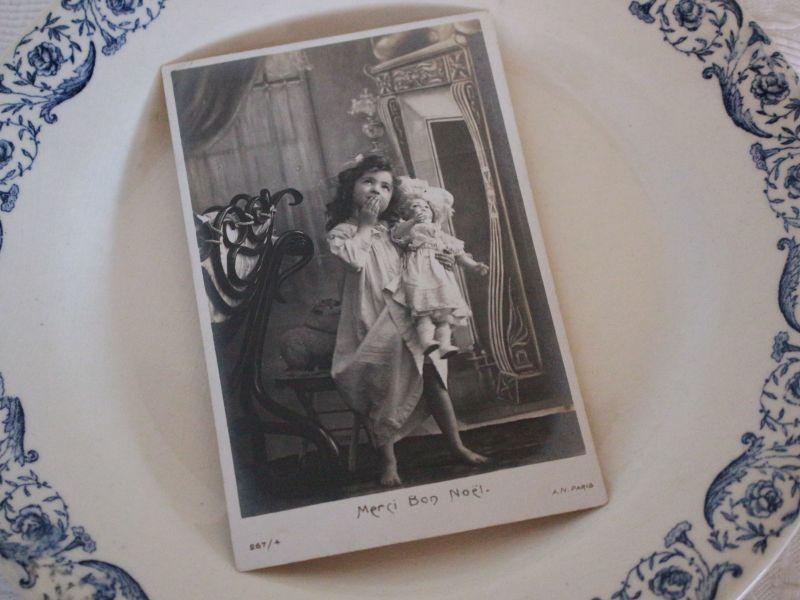 画像1: Little Girl&Doll Noel/France (1)