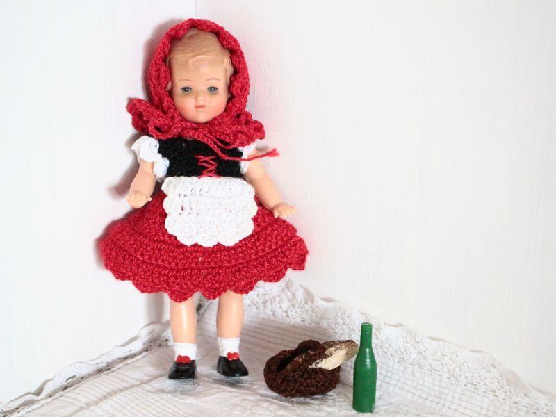 画像1: Vintage LISSI DOLL 5.5in/Little Red Riding Hood (1)