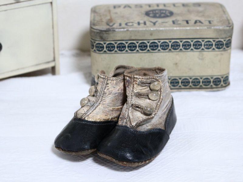 画像1: Button Boots Baby shoes 4in/Victorian  (1)