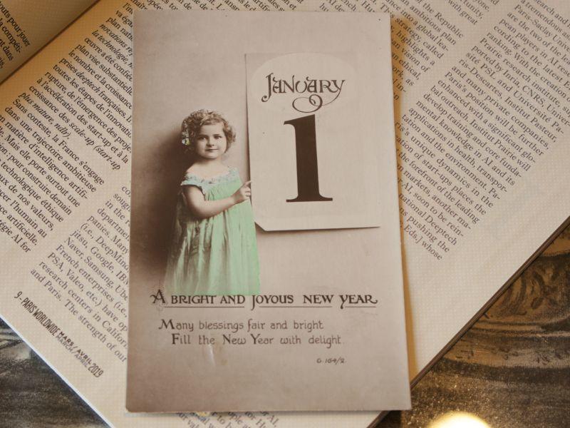 画像1: 少女のNew Year Card (1)
