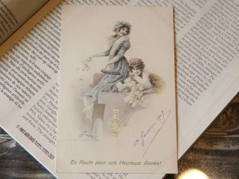 画像1: ヴィクトリア朝貴婦人のフレンチポストカード/France (1)