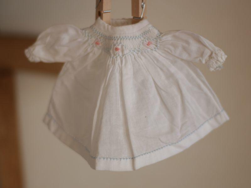 画像1: Doll Smocking Dress (1)