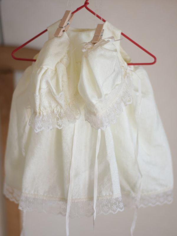 画像1: Doll&Bear Dress&2Bonnets (1)