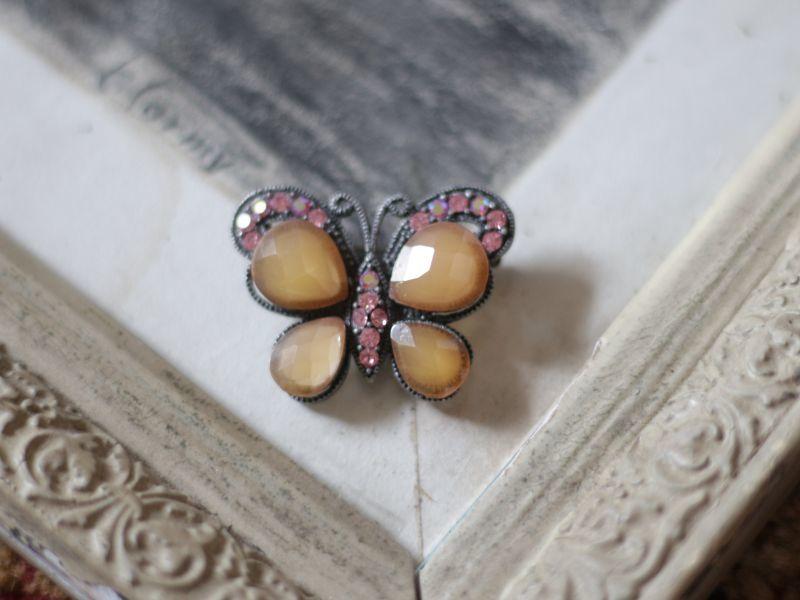 画像1: アンティーク蝶のブローチ (1)