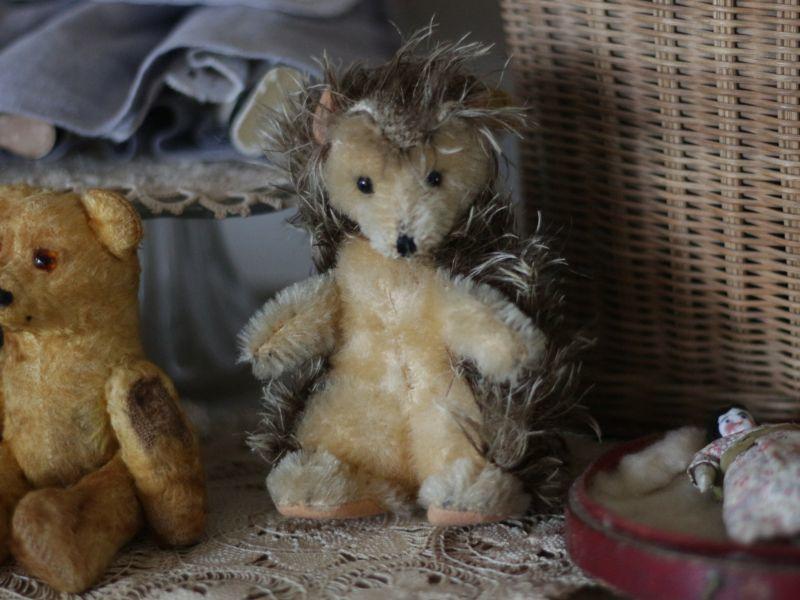 画像1: Antique Steiff Joggi Hedgehog/ヨーロッパ蚤の市 (1)