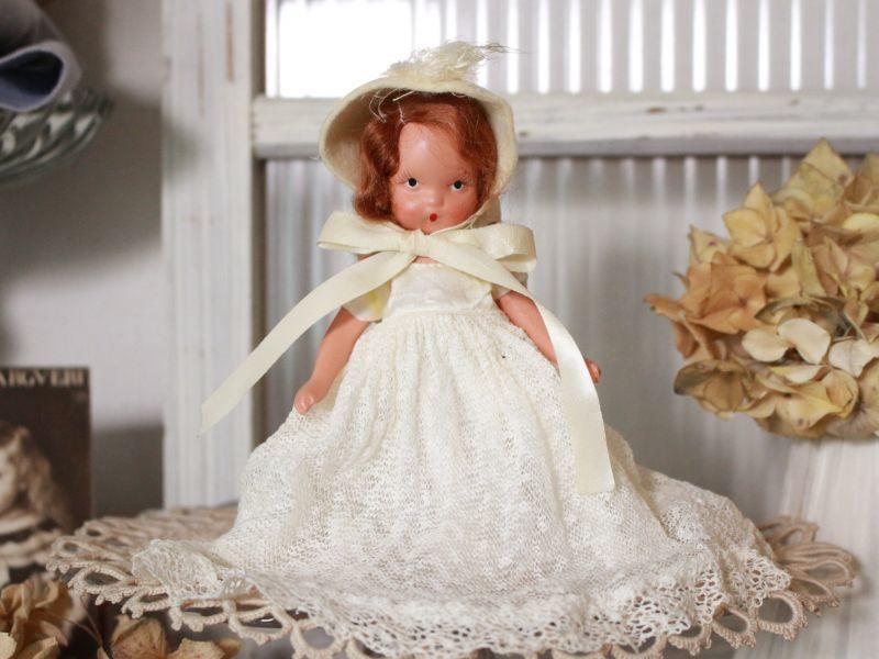 画像1: Nancy Ann Story Book White Dress/ナンシー アン ドール (1)