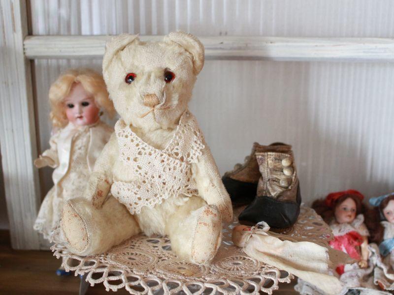 画像1: Antique White Bear (1)