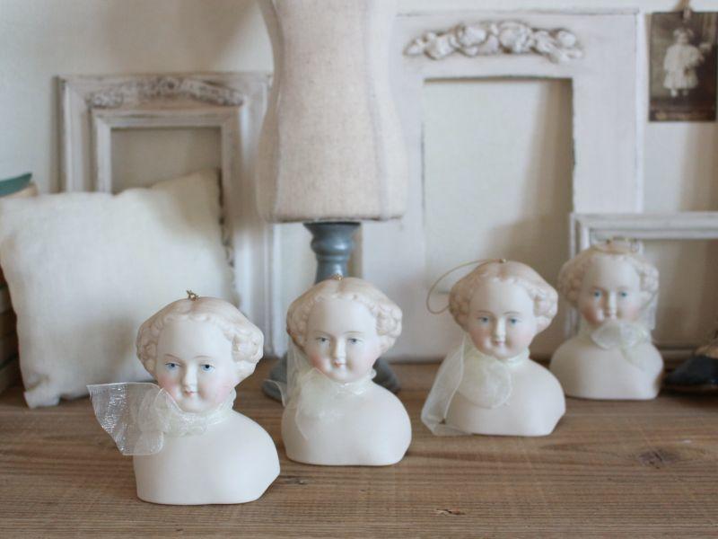 画像1: China shoulder head doll Ornament / 3 3/4in (1)