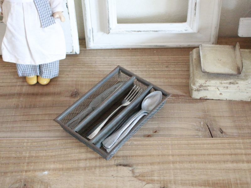 画像1: Antique Doll House kitchen Set E /France (1)