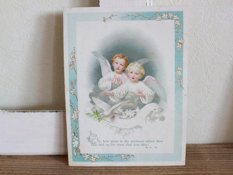 画像1: アンティークヴィクトリアン天使のカード (1)