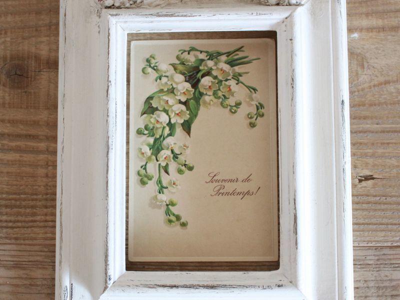 画像1: Antique Post Card エンボス 05/スズラン/1900初期 (1)