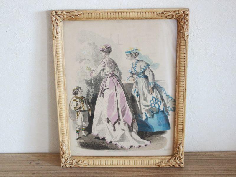画像1: Magasin des Demoiselles 1867 アンティークフレームセット/French (1)