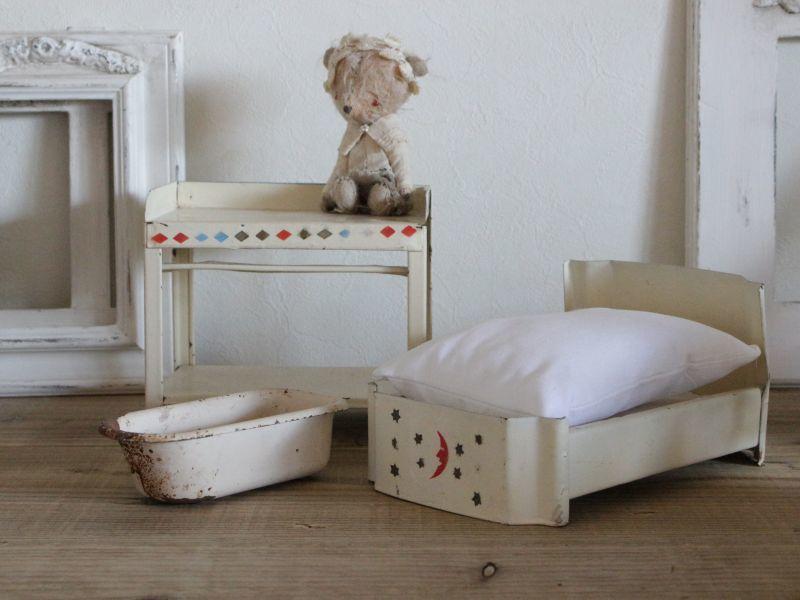 画像1: ドールハウス アンティークメタル家具セット 382 (1)
