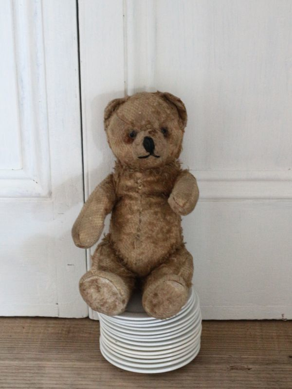 画像1: Antique Shabby Bear / 9 1/2in (1)