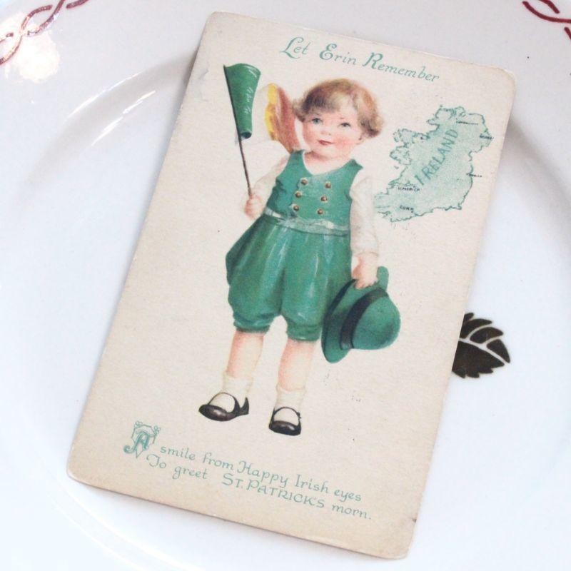 画像1: Ellen Clapsaddle St.Patrick's ポストカード Wolf&Co. * (1)